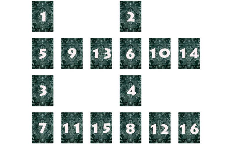 Личный расклад на 16 карт