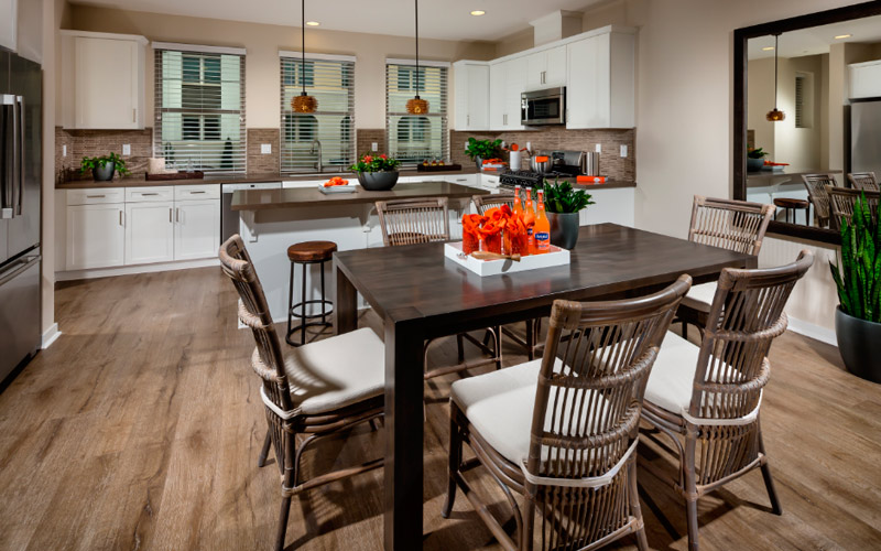 Как расположить кухонный стол и другую мебель в кухне по феншую