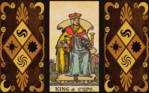 Изображение младшего аркана карт Таро Король чаш