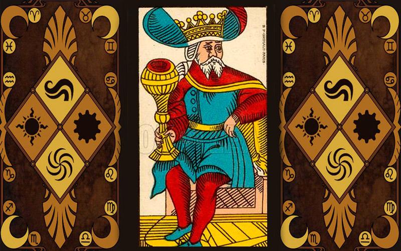 Младший аркан карт Таро - Король чаш