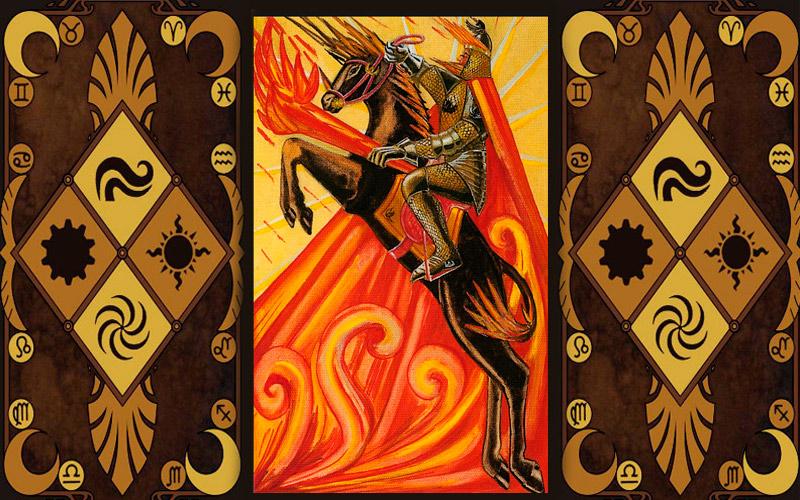 Старший аркан карт Таро - Рыцарь жезлов