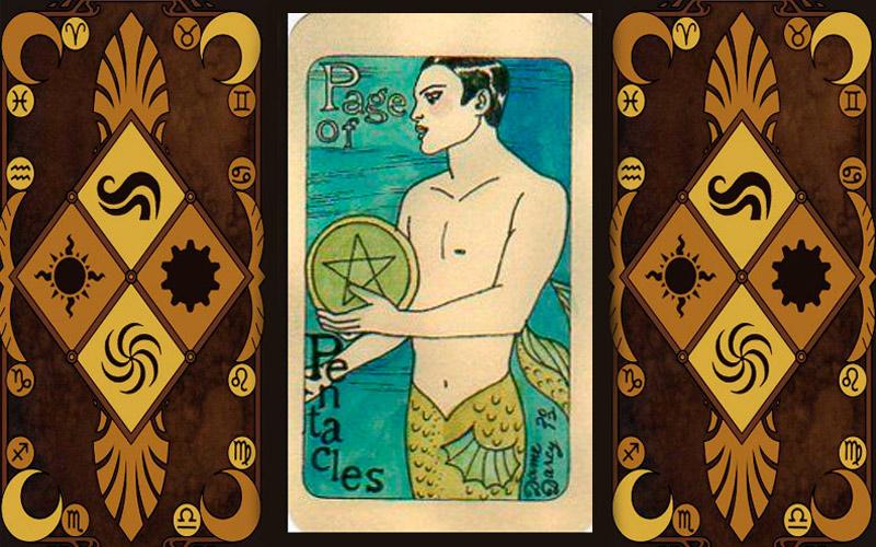 Младший аркан карт Таро - Паж пентаклей
