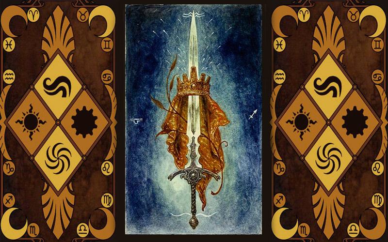 Младший аркан карт Таро - Туз мечей