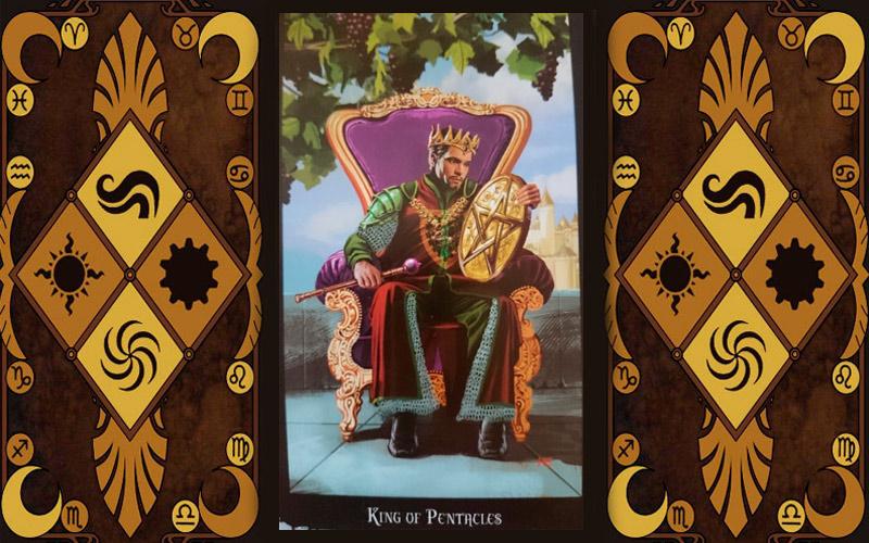 Младший аркан карт Таро - Король пентаклей