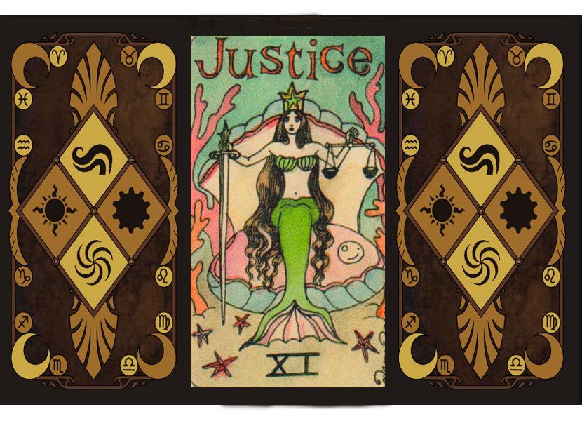 Старший аркан Таро - Справедливость (Страшный Суд или Правосудие)