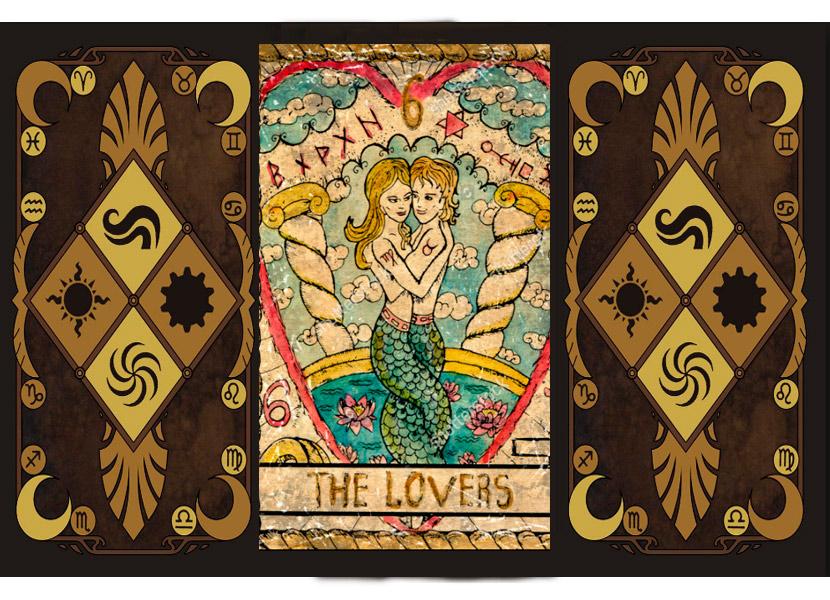 Старший аркан карт Таро - Влюбленные